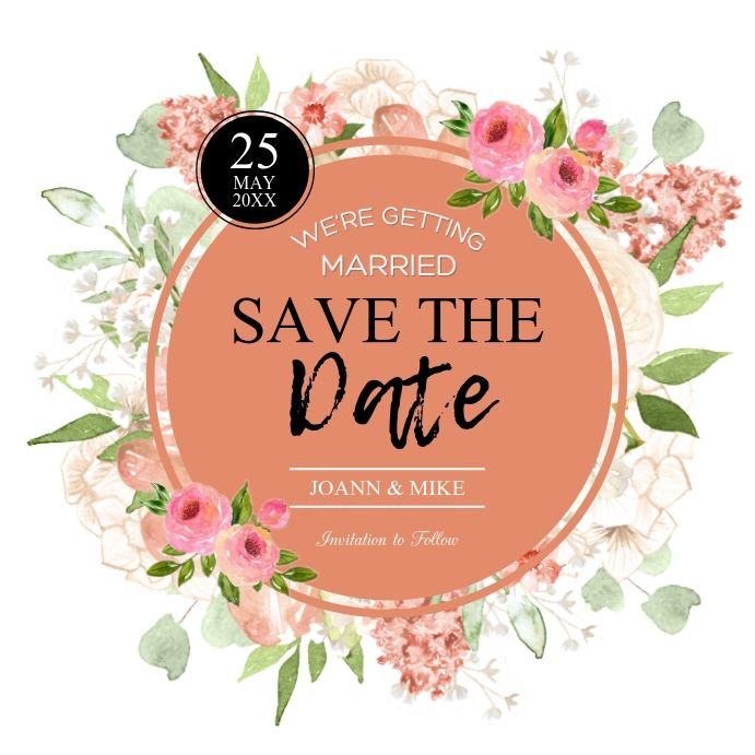 Save The Date Template Wedding Invitation Templates Wedding Invitations Save The Date Invitations