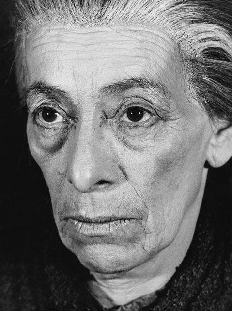 Helene Weigel (1900-1971) - German actress. Second wife of Bertolt Brecht. Photo by Thérèse Le Prat, June 1960