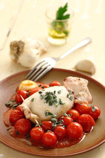 Calamaro ripieno con Pomodorini   #MenudellaSettimanaCirio #Cirio #ricetta #recipe  #italianrecipe #cuoreitaliano