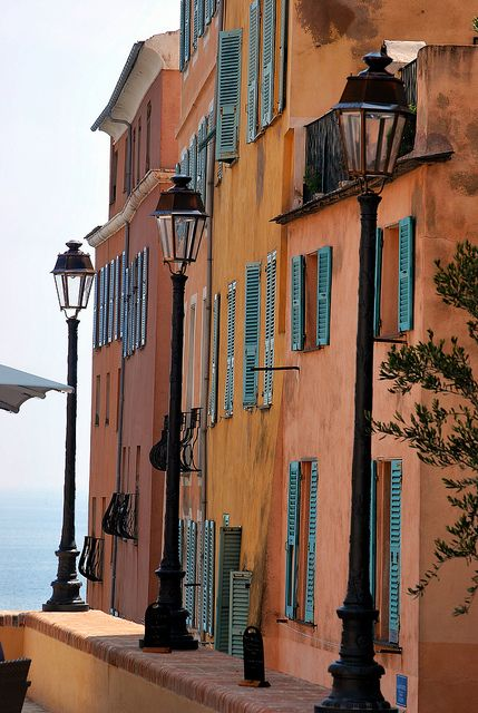 Corsica, France | The windows, the colors, the ocean in the background.