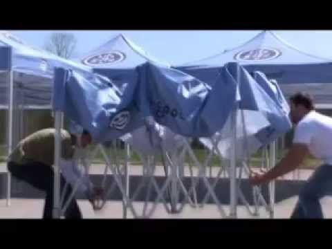 MASTERTENT folding tent setup