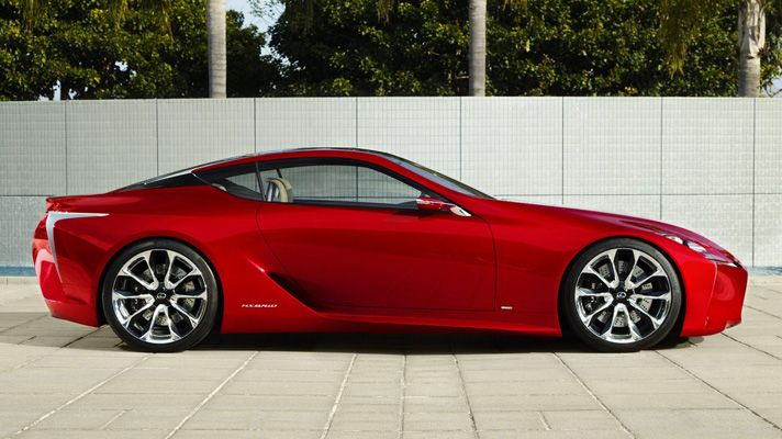 """Worried that this year's Detroit motor show's going to be full of soporific American nonsense? Panic not, internet, for Lexus has given us this - a rather splendid LF-LC two-plus-two sports coupe concept.    Lexus says: """"It's been crafted from a clean sheet of paper, combining high technology and organic shapes to achieve a close connection between driver and car.""""    Looks more like it's been crafted from a sheet of metal to us."""