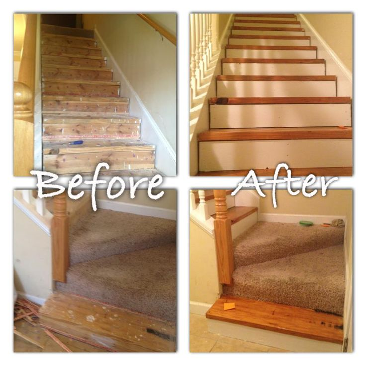 Best How To Redo Your Carpeted Stairs 2015 Hall Stairs 400 x 300