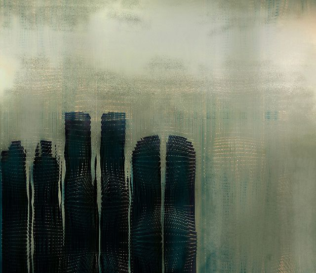 distortion of buildings;art: Cherries Blossoms, Ctatiana Plakhova, Graphics Art, Trav'Lin Lights, Abstract Art, Complex Graphics, Graphics Design, Astatiana Plakhova, Behance Network