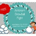 FREE! Take a break from boring speech therapy practice and have a snowball fight!  This freebie allows your students to play a winter themed game while ...