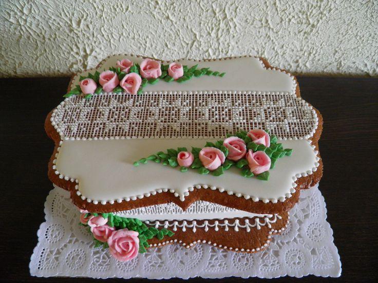 Gingerbread rose box