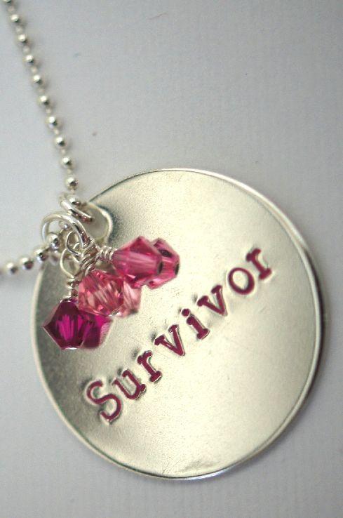 Survivor - Breast Cancer - Sterling Silver Necklace