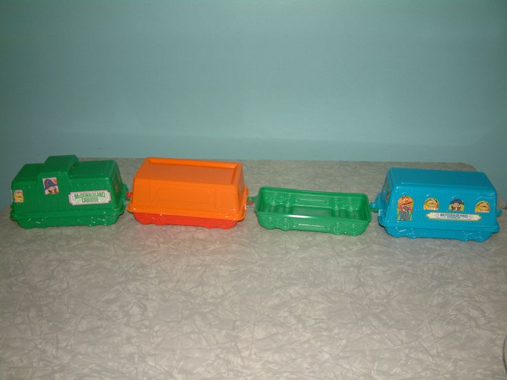 Vintage Mcdonalds Happy Meal Container Train Set Rare