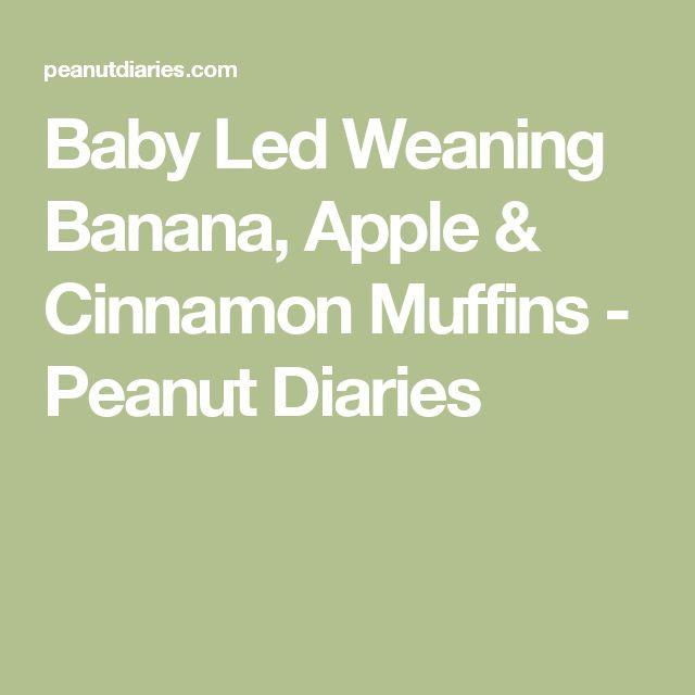 Baby Led Weaning Banana, Apple & Cinnamon Muffins - Peanut Diaries