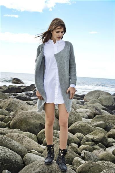 1416: Modell 2 Rillestrikket jakke #mohair #strikk #knit