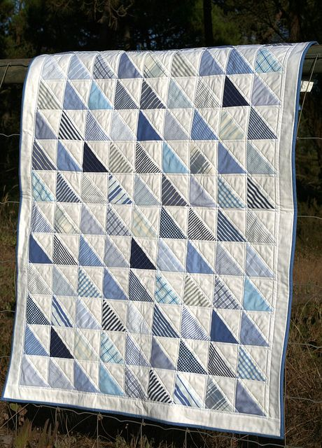 Wish I had a few of my Grandpa's shirts to make this... shirts baby quilt - What a nice keepsake if the shirts were Grandpa's