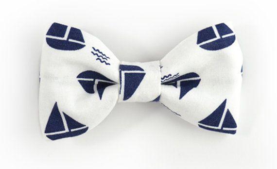 Bow Tie-white sailboats