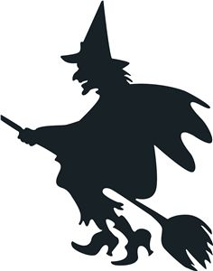 KIDS - HALLOWEEN - PUMPKIN / CITROUILLE / POMPOEN - witch silhouette