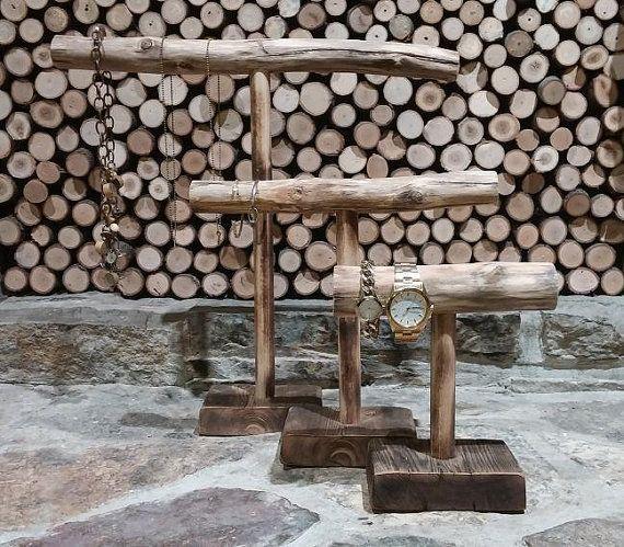 Wooden Branch Jewelry Stand – MEDIUM – Dark Finish