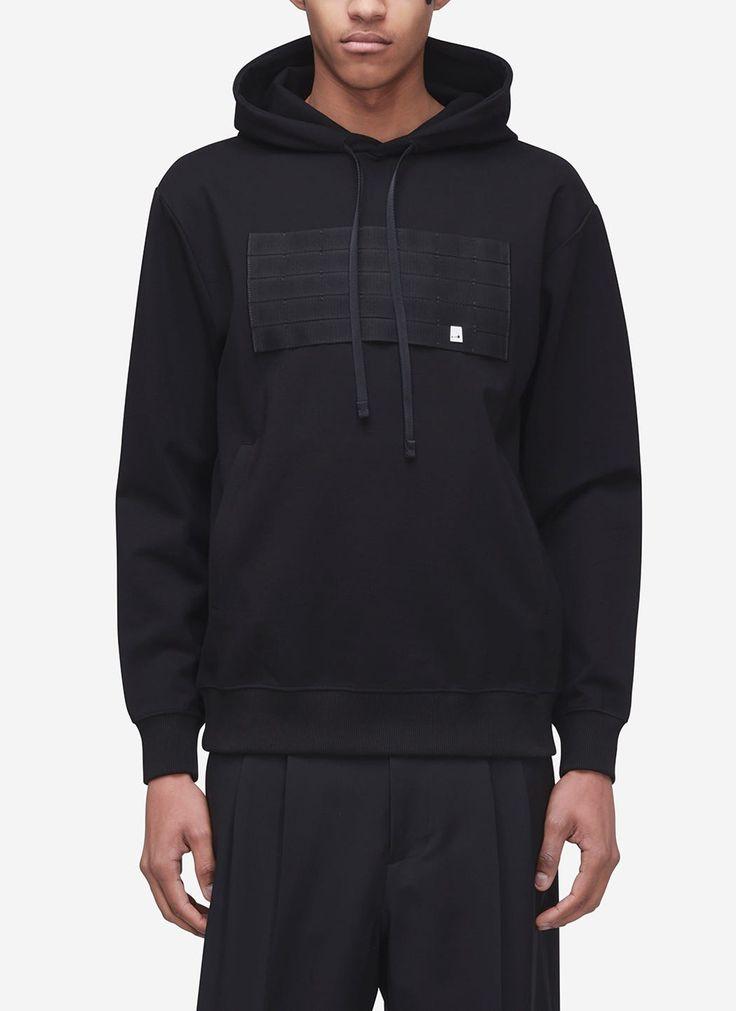 Military strap hoodie in black in 2020 hoodies cotton