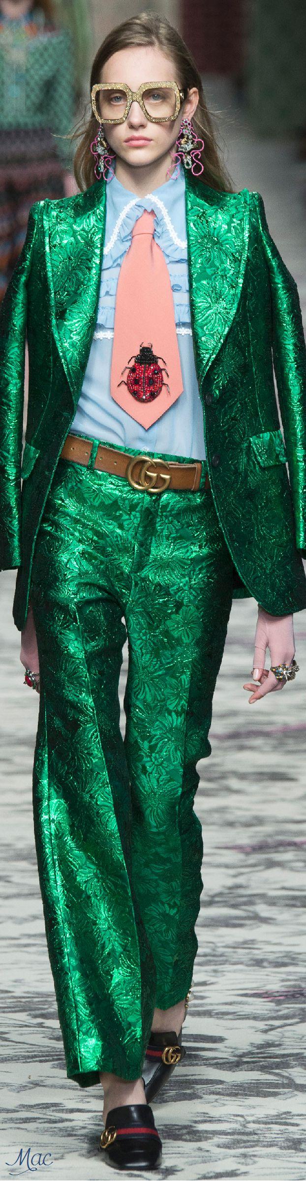 Spring 2016 Ready-to-Wear Gucci it is not nice to make fun of sir Elton john