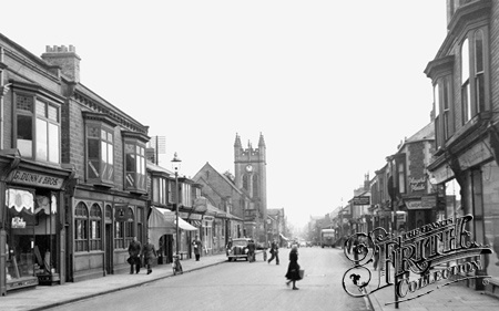 Photo of Bishop Auckland, Newgate Street 1951 - Francis Frith  -  Where I was christened.   Wesley Methodist Church.