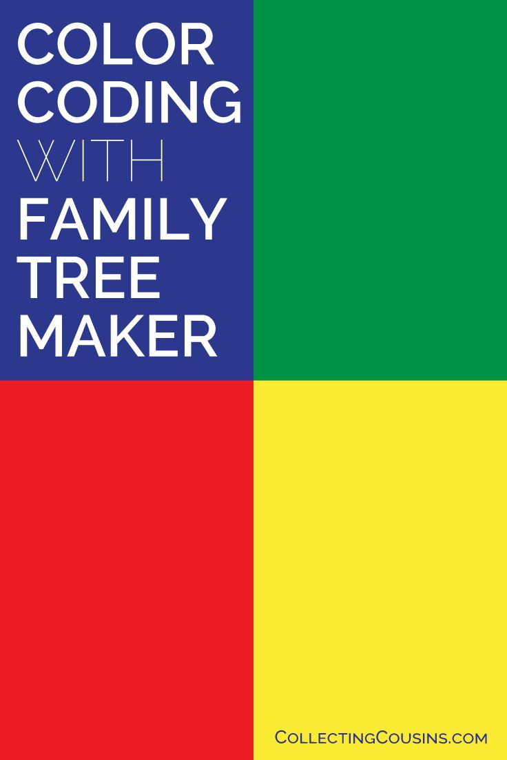 Color Coding with Family Tree Maker 2017