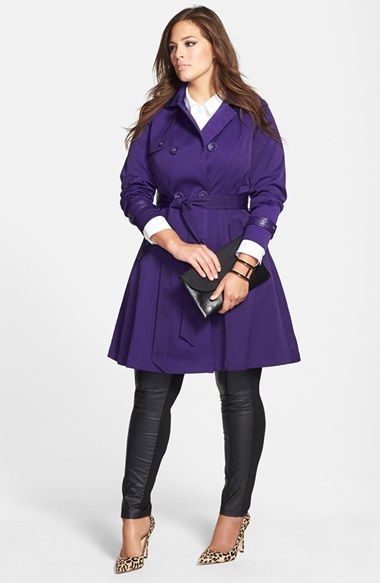 Efffing Gorg!! Wait till you see the back... City Chic Corset Back Trench Coat (Plus Size) | Nordstrom