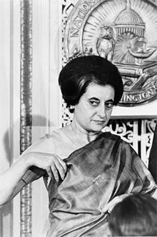 Indira Gandhi  (1917-1984) Premier Ministre Deux mandats (1966-1977) (1980-1984)