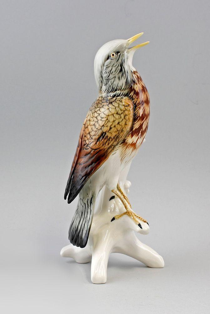 Porzellanfigur  Vogel Ens Thüringen Wacholderdrossel
