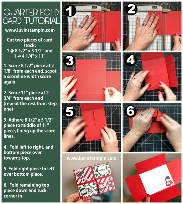 How To Make A Quarter Fold Card Luvin Stampin Fancy Fold Card Tutorials Folded Cards Fancy Fold Cards