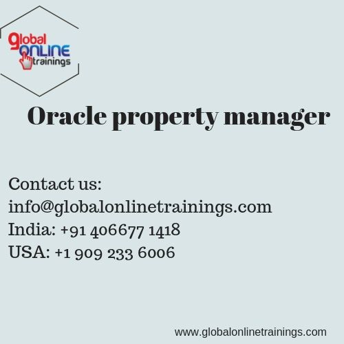 Oracle property manager training is part of the Oracle real