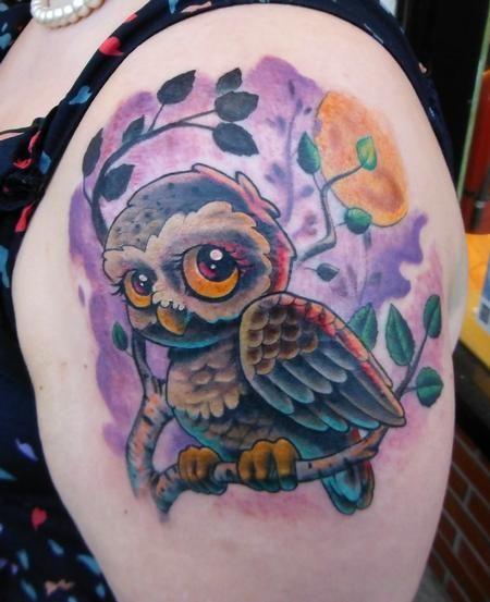 Tim Senecal - Birch owl #tattoo