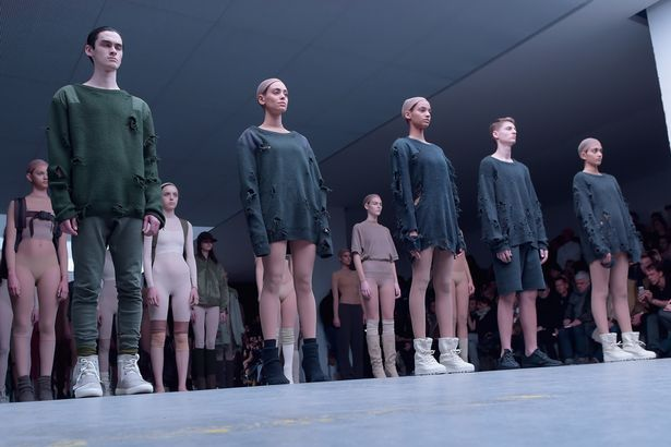 Kanye West BANS New York fashion week models from gossiping about him and Kim Kardashian with £6.5million threat - Mirror Online
