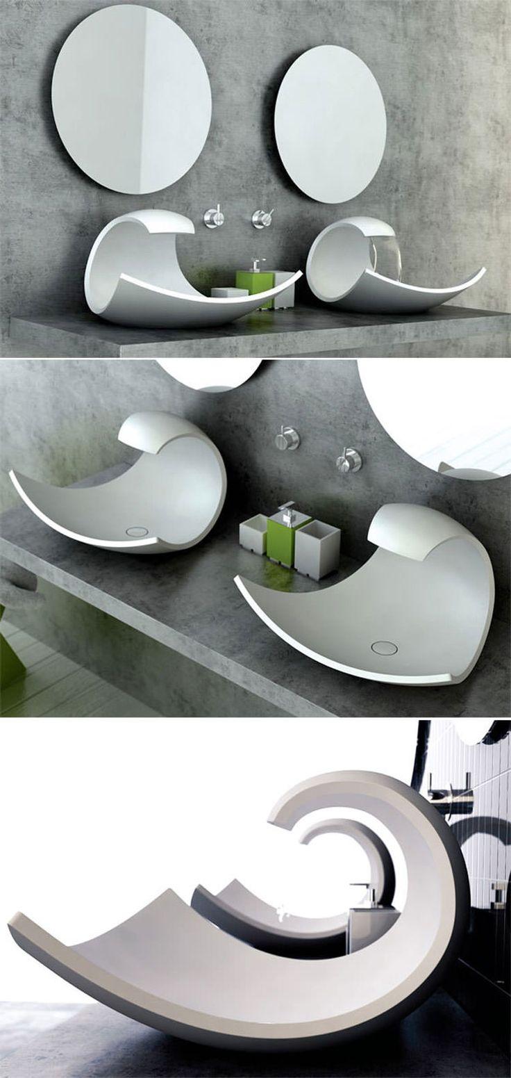 Lavandino futuristico per bagni moderni n.17