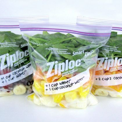 Smoothie Freezer Packs... Add pea protein and have a healthy paleo protein smoothie