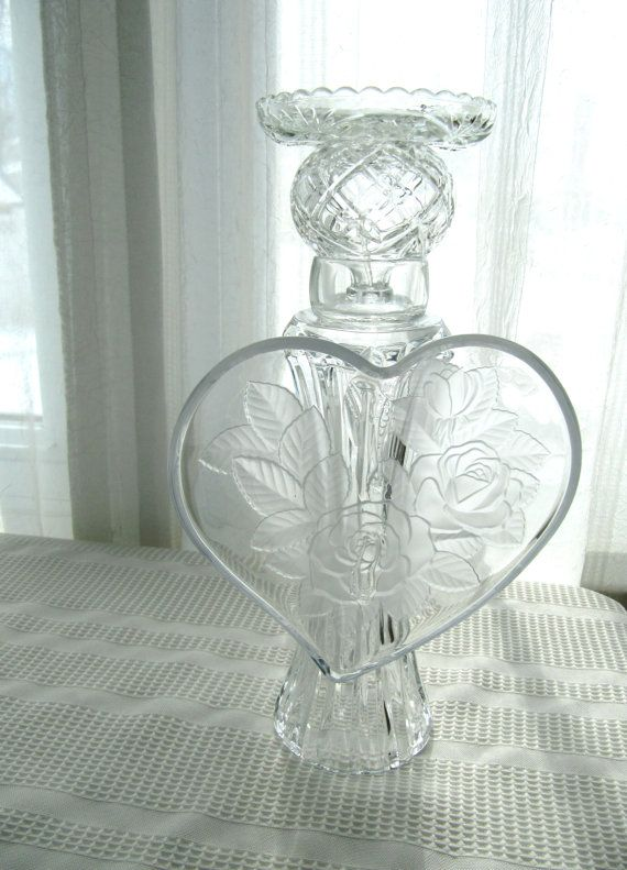 Glass angel sculpture upcycled vintage by ADelicateTouch1 on Etsy