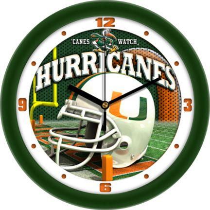 Miami Hurricanes 12 inch Helmet Wall Clock