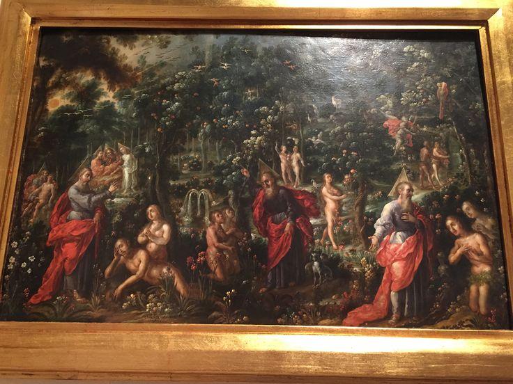 """Cristóbal de Villalpando, """"Adam and Eve in Paradise,"""" ca. 1689, Metropolitan Museum of Art"""