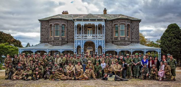 GEELONG MILITARY RE-ENACTMENT GROUP at Brwon Park