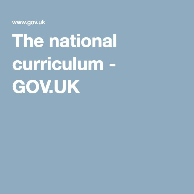The national curriculum - GOV.UK