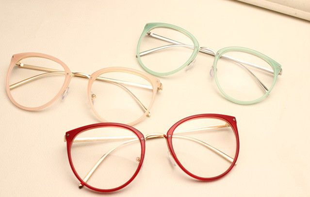 Vintage Men Women Eyeglass Frame Glasses Retro Spectacles Clear Lens Eyewear Rx #Unbranded