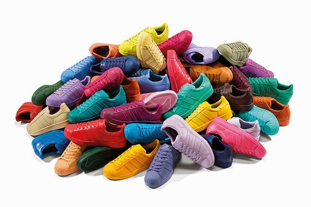 Trend Flakes: Rainbow Sneakers // Superstar Supercolor