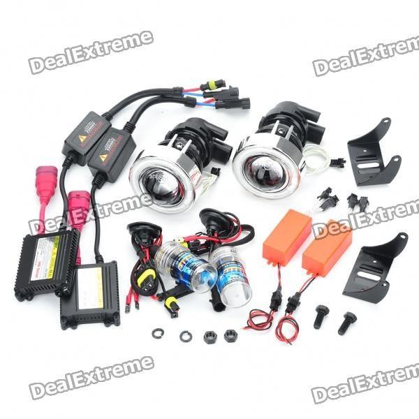 CCFL 35W HID Headlamps Car Angel Eyes Projector Fog Lamps Kit (Pair / DC 12V)