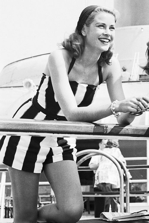 Grace Kelly, Riviera-chic at its finest #RealLifePrincess