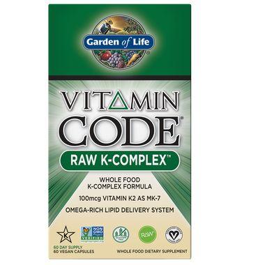 Garden of Life Vitamin Code Raw Vitamin K-Complex - 60 Vegan Capsules