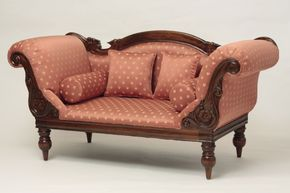 Victorian Campaign Loveseat also for the parlor