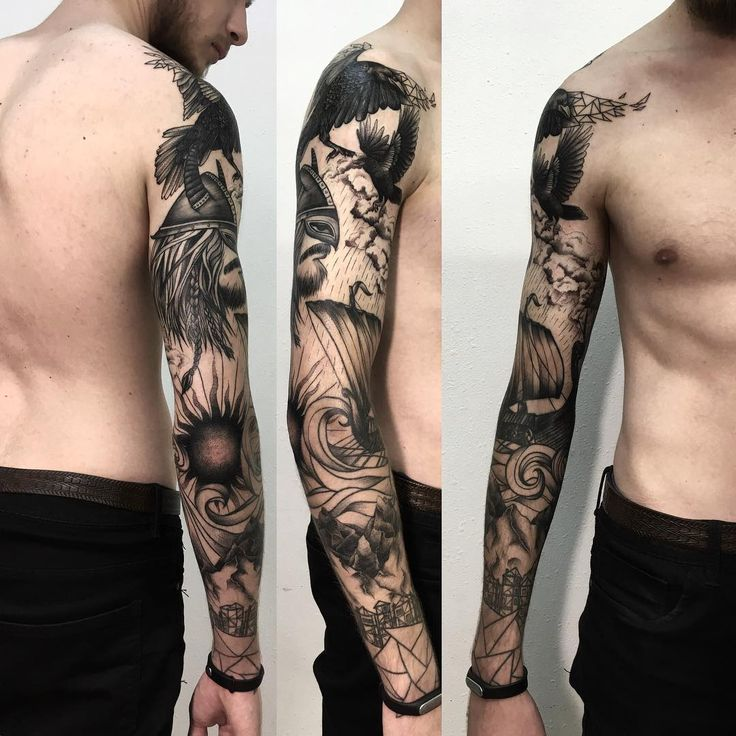 Blackwork sleeve