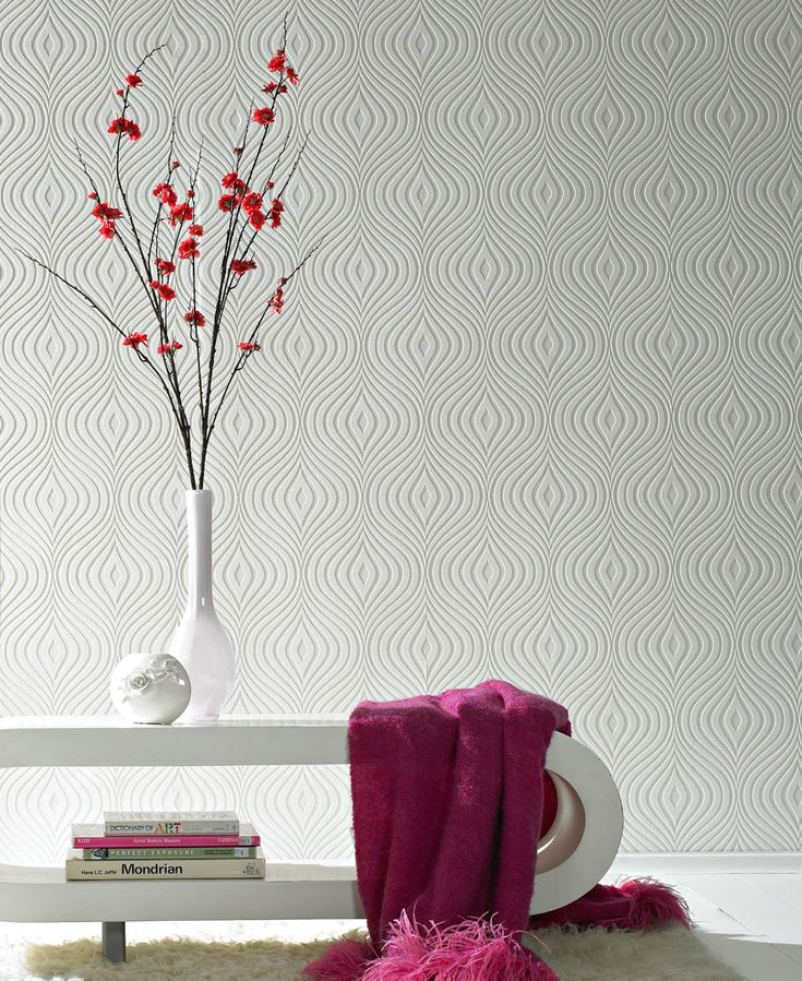 Graham & Brown Curvy Paintable Wallpaper & Reviews