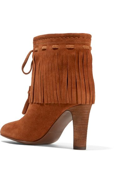 See by Chloé - Fringed Suede Ankle Boots - Tan - IT35.5