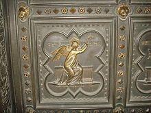 ANDREA DA PONTEDERA, Battistero di San Giovanni a Firenze, particolare formella della porta, La speranza