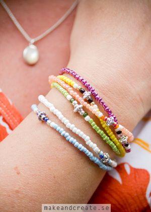 Armband av små glaspärlor - Pyssel & pysseltips - Make & Create