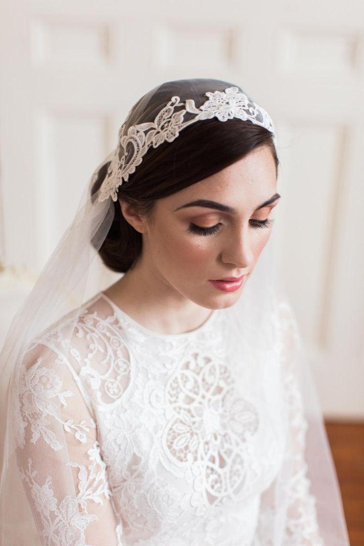 Francesca lace Juliet cap veil