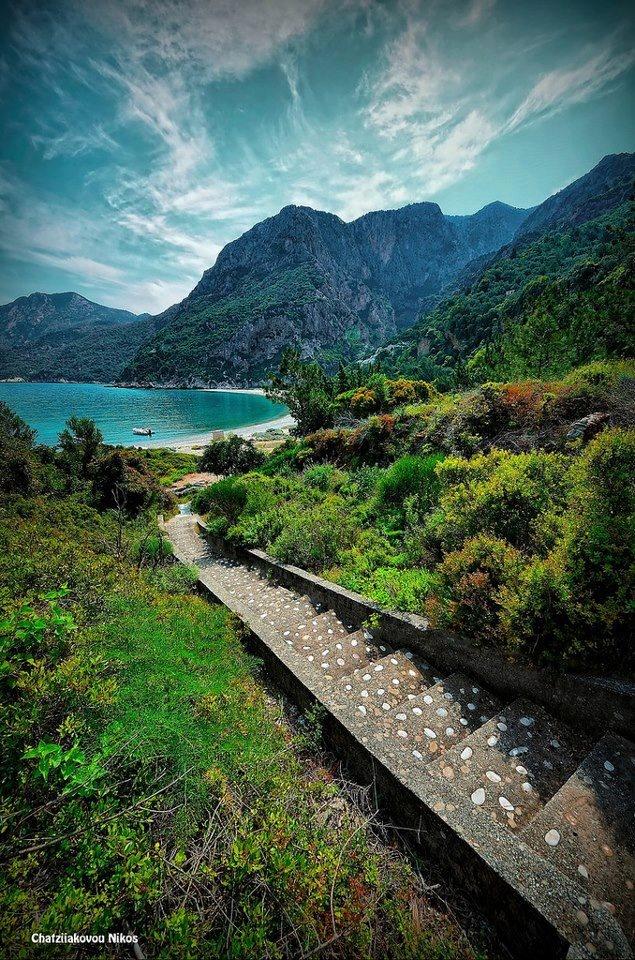 No words to describe such beauty... Big Seintani in #Samos island #Greece