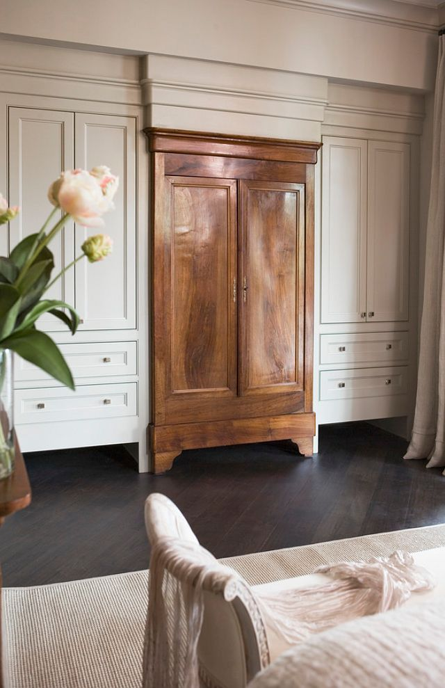 bedroom built ins around a statement piece armoire the cabinets wall and trim. Interior Design Ideas. Home Design Ideas